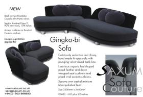 Deliciously seductive and classy had made hi-spec sofa with plunging velvet raked back line.